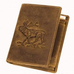 AKAH denarnica Jelen, usnjena – VISOKA